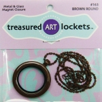Brown Round Locket