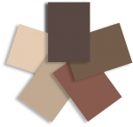 Shades of Brown Accessory Paper