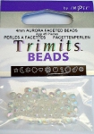 4mm Aurora Faceted English Beads