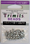 4mm Silver Faceted English Beads